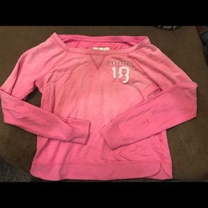 Abercrombie and Fitch pink crew neck